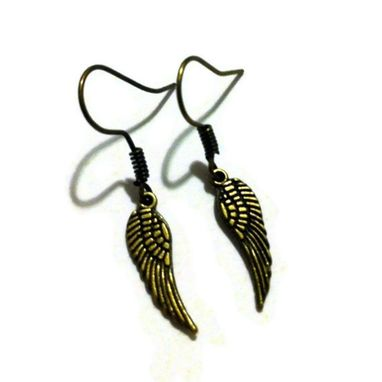 Custom Made Tiny Bronze Wing Earrings