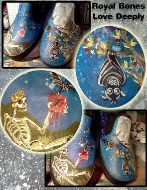 Custom Made Women's Hand Painted Slip On Shoes
