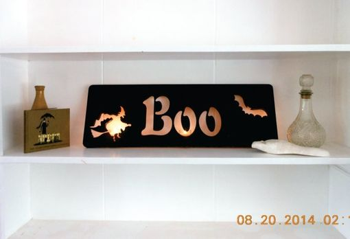 Custom Made Wooden Halloween Decoration For Mantle, Door, Or To Set On A Shelf