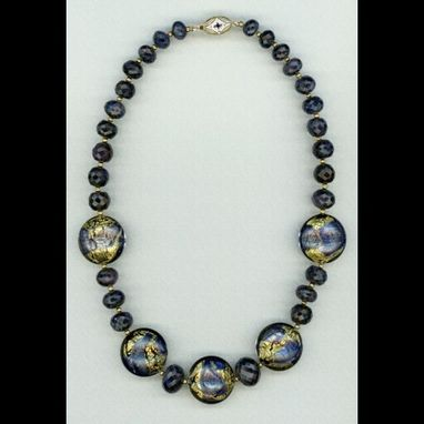 Custom Made All The Way Blue Sapphire Necklace