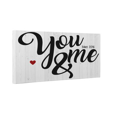 Custom Made You And Me Since Year Canvas Wall Art