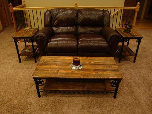 Custom Made Western Coffee Table And End Tables