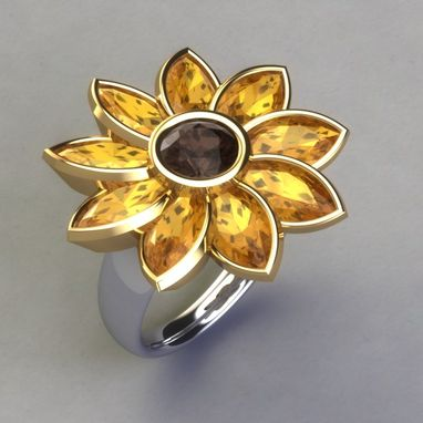 Custom Made Sunflower Ring