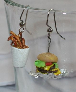 Custom Made *Miniature Food* Custom Ear-Rings ~ Sculpture Art * Dollhouse Art *