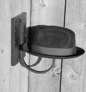 Custom Made Steampunk // Handforged Hat Rack
