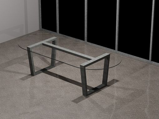 Custom Made Industrial Style Steel Table Base