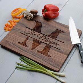 Personalized Cutting Board Engraved Custom Wedding Gift Cb Wal