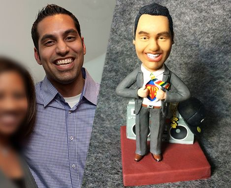 Custom Made Custom Figurine From Your Photo With Many Hand-Made Realistic Details -- Unique Gift For Your Lover