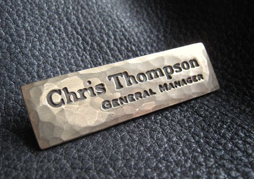 Custom Made Solid Bronze Custom Name Tag Or Name Plate