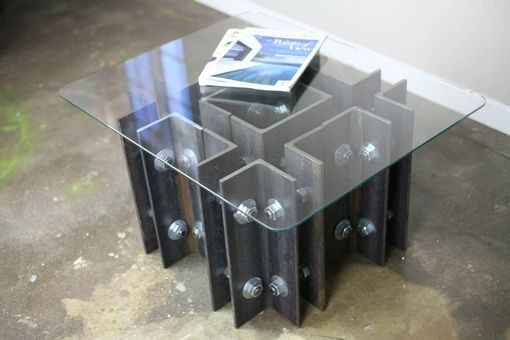 Custom Made Modern Industrial Coffee (Or End Table), Unique, Steel Furniture, Metal Art, Custom Sizes Avail.
