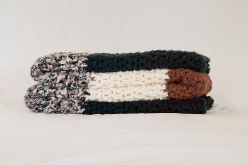 Custom Made Black, Brown, And Natural Throw