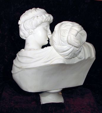 Custom Made Love's First Kiss, Marble Bust