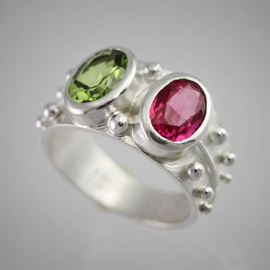 Custom Made 2 Stone Oval Wrap Ring (Mother Ring) (Made To Order)