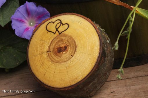 Custom Made Rustic Jewelry Ring Box From Hollowed Log Personalized