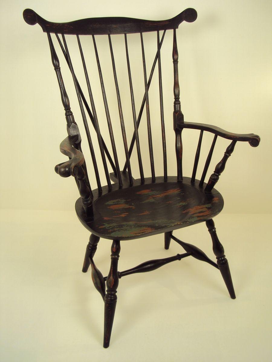 Custom Nantucket Fan Back Windsor Chair By Wood