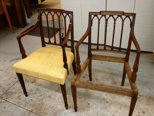 Custom Made Copy Of Antique Mahogany Armchair Chair