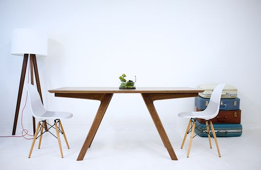 Custom Made The Boomerang Mid Century Modern Solid Walnut Dining Table