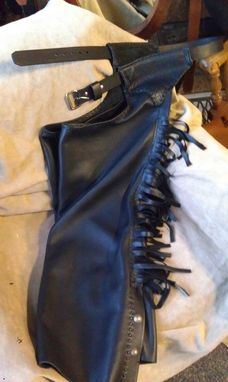 Custom Made Custom Leather Chaps With Fringe