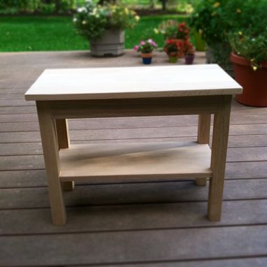 Custom Made Solid Oak End Table