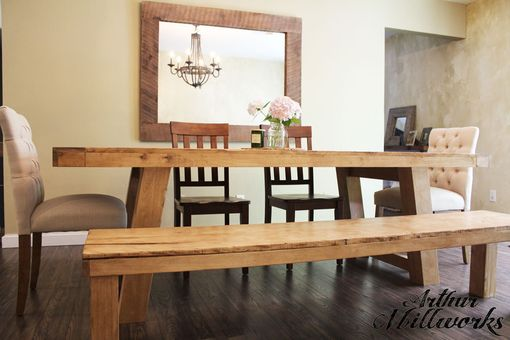 Custom Made Custom Solid Wood French Style Table