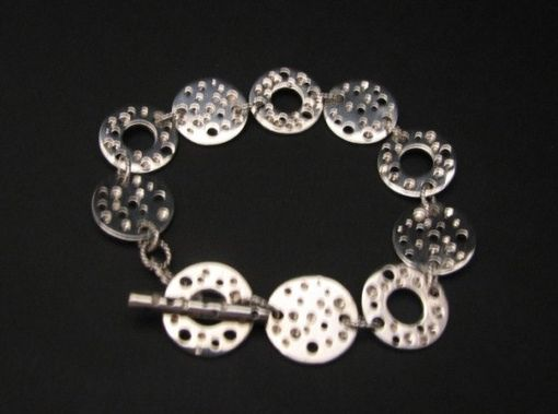 Custom Made Luna Sterling Silver Circles With Toggle Clasp