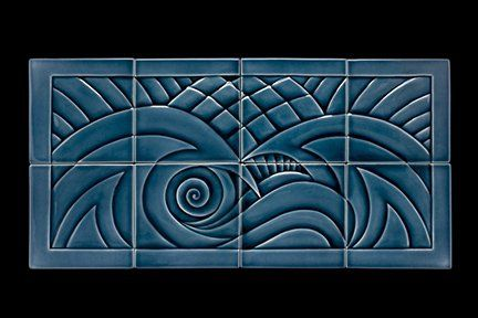 Custom Made Waves, Porcelain, Ceramic Tile Mural