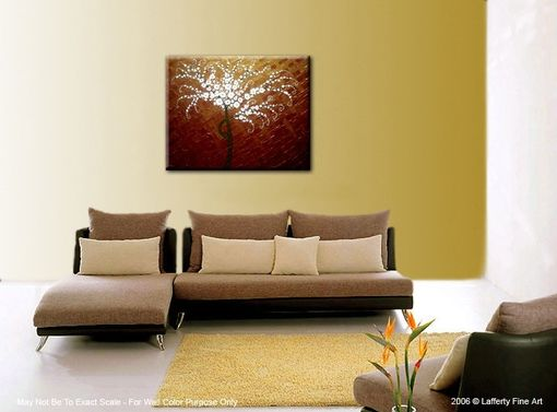 Custom Made Original Abstract White Cherry Blossom Tree Impasto Landscape Textured Modern Palette Knife Painting