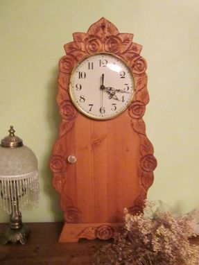 Custom Made Clock, Mantle Clock, Small Storage Clock
