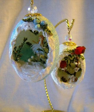 Custom Made Wintery Egg Decorations