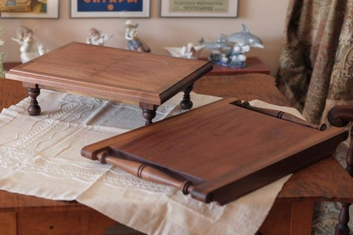 Custom Made Pedestal Cutting Board And Removable Tray