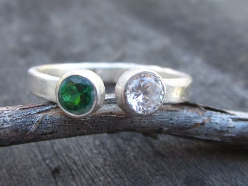 Custom Made Ring With Double Gemstone