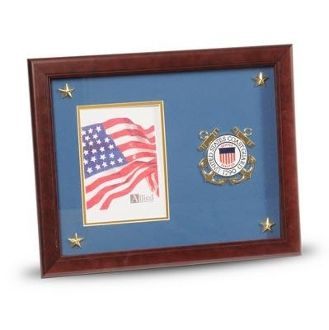 Custom Made U.S. Coast Guard Medallion Picture Frame With Stars
