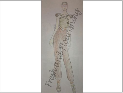Custom Made Original Design - Pant Jumper With Fitted Waist And Harem Pants