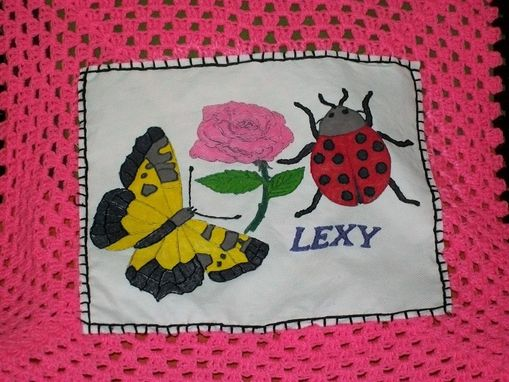 Custom Made Butterfly And Lady Bug Blanket