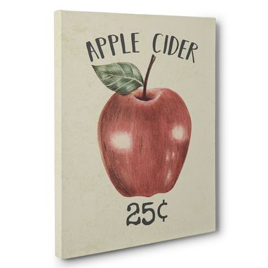 Custom Made Apple Cider Canvas Wall Art