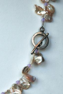 Custom Made Gorgeous Thumbnail Keishe Pearls And Special Irredescent Pendant Make This Necklace A Standout