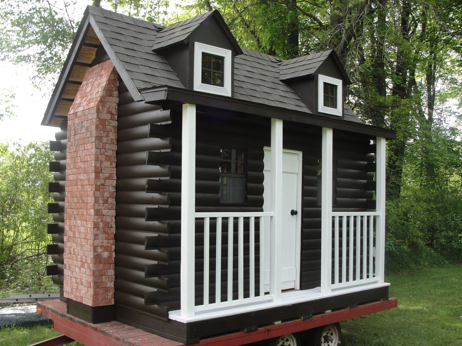 Handmade Log Cabin Playhouse By Out On A Limb Playhouses