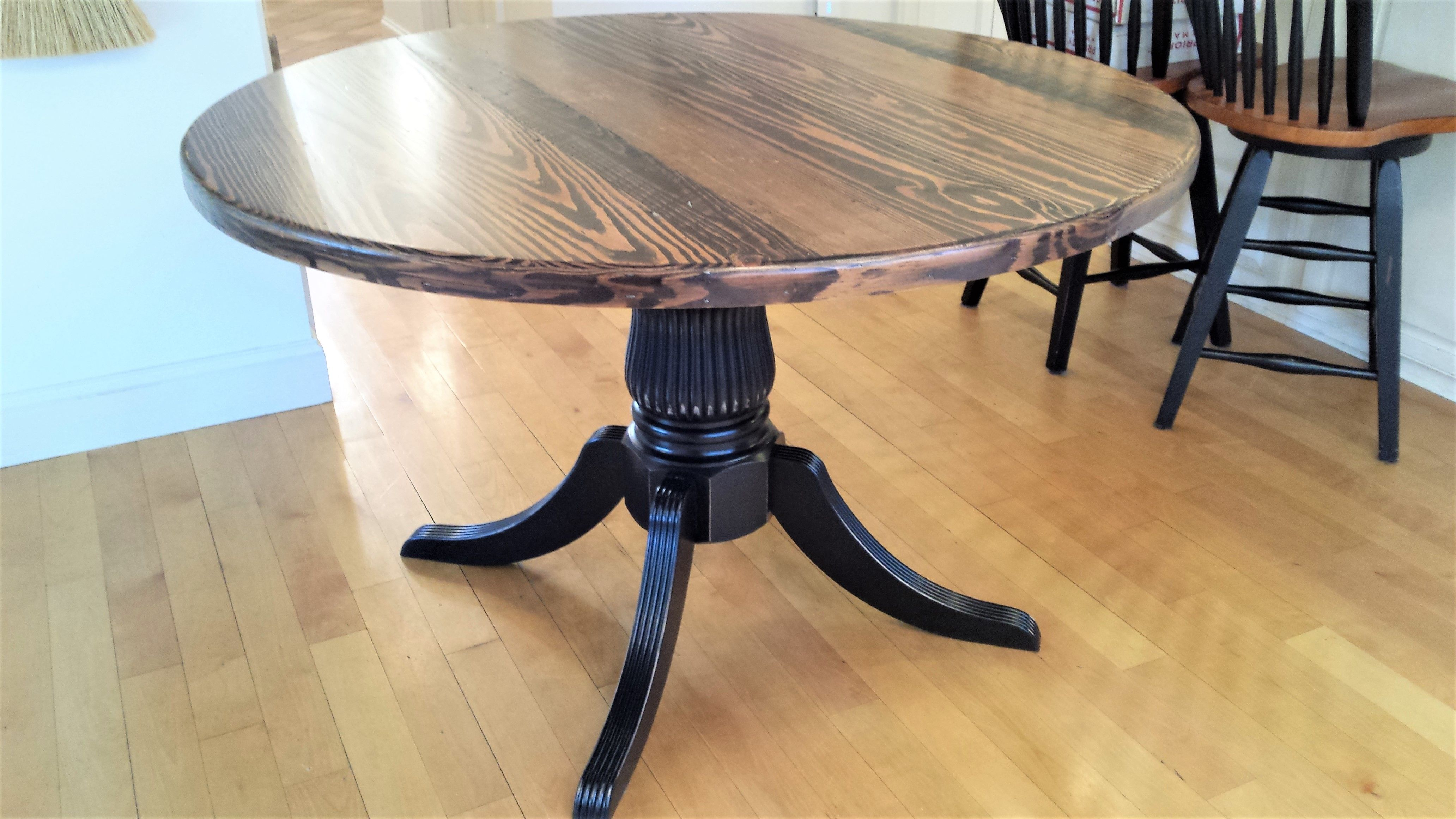 Buy A Handmade Reclaimed Wood Round Pedestal Table Made
