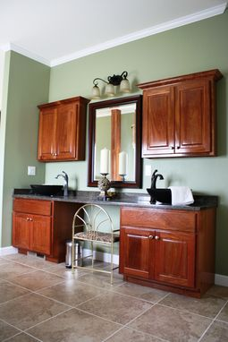 Custom Made Brazilian Cherry Cabinets