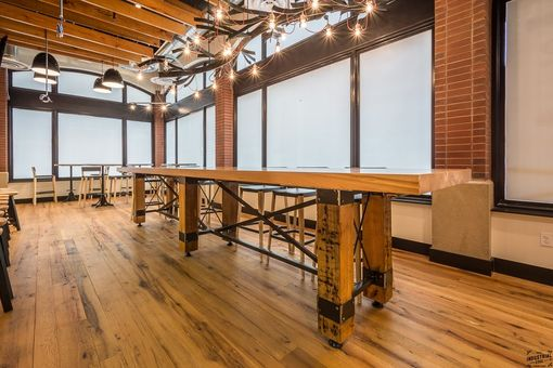 Hand Made Custom Reclaimed Wood Amp Steel Conference Table