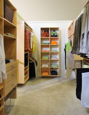 Custom Made Clean Lines For An Organized Closet