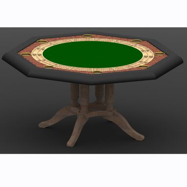 Custom Made Poker Table Concept (With Quad Plade Pedestal)