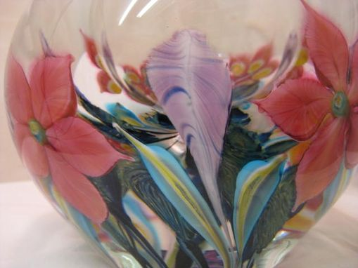 Custom Made Hand Blown Glass Mixed Bouquet Bowl