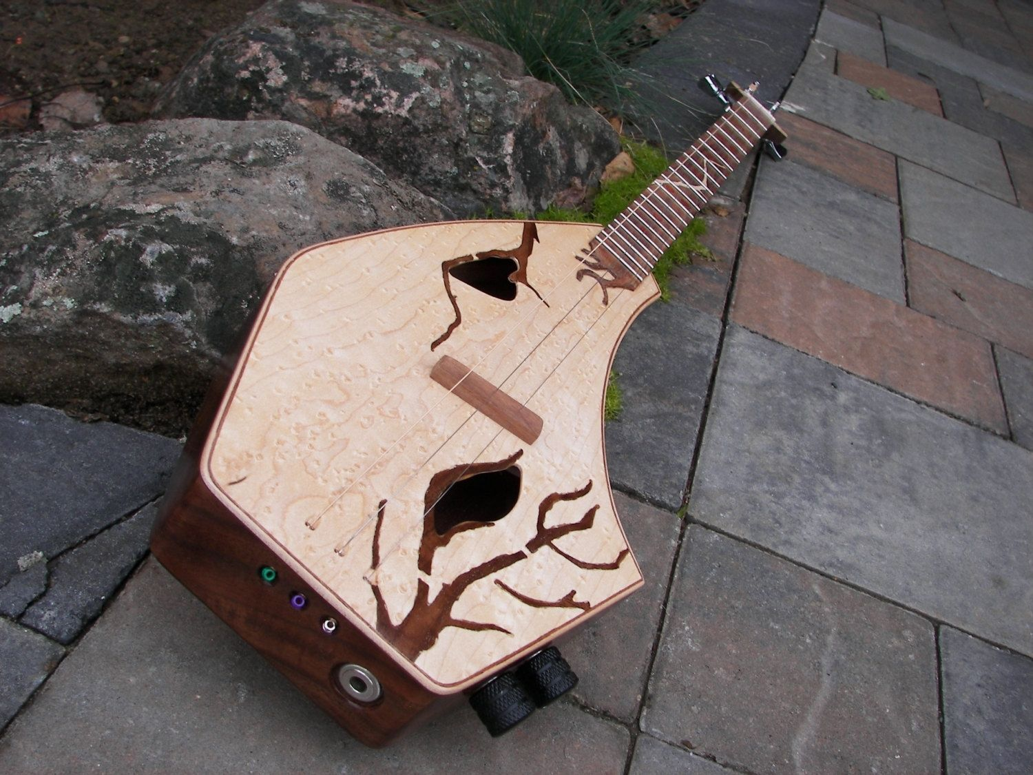 Hand Made Handcrafted Mini Guitar Cigar Box Guitar By