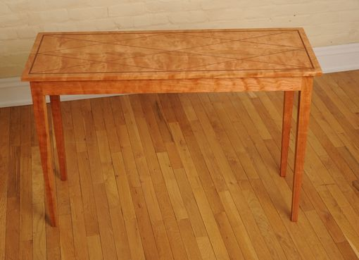 Custom Made Cherry And Bubinga Entry Table