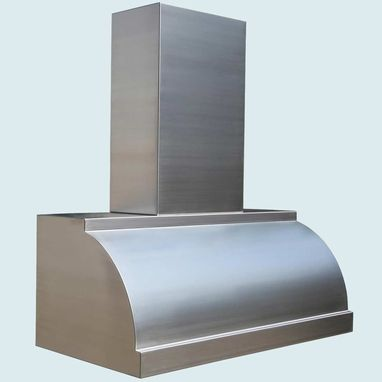 Custom Made Stainless Range Hood With Stack & Steps