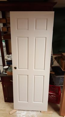 Custom Made Painted Maple Entry Door