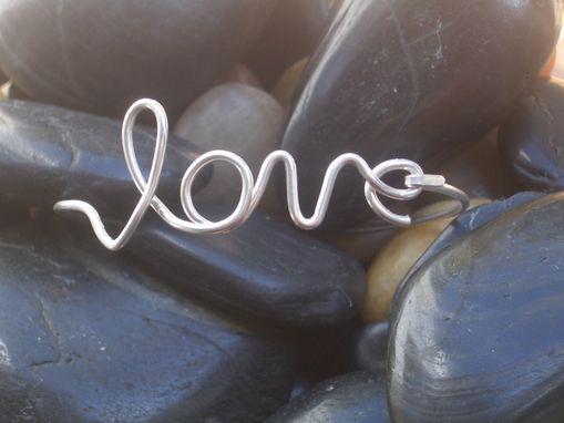 Custom Made Love Bangle In Sterling Silver
