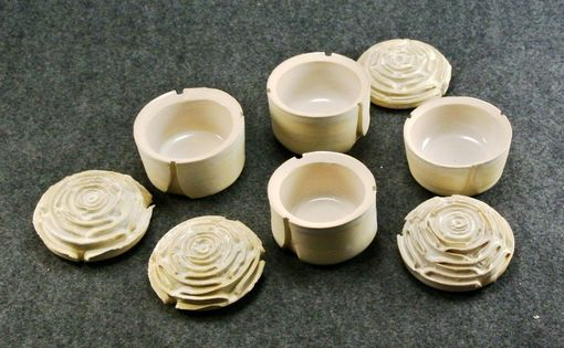Custom Made Covered Rose Cups, Or Jars