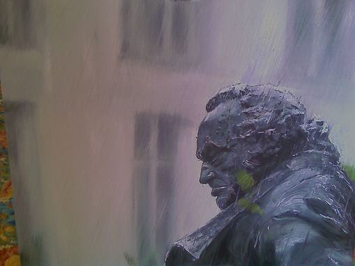 Custom Made Rainy Day For A Parisian Statue
